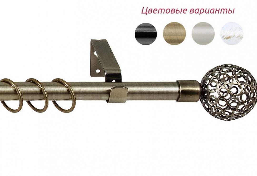"""Карниз раздвижной однорядный """"Ажур"""""""